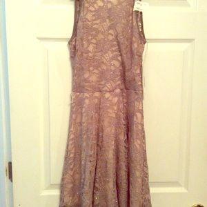 Antique Gold Skater's Dress. Sz L.